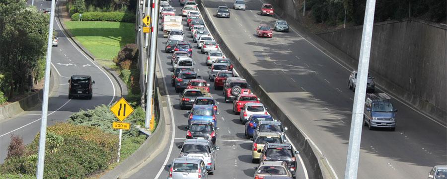 Bumper to bumper on NZ motorway